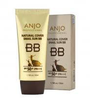 ББ-крем с муцином улитки Anjo Professional Natural Cover Snail Sun Bb Cream