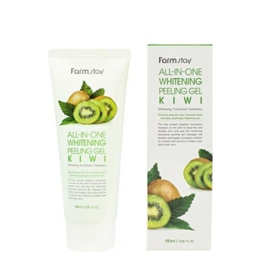 Пилинг-скатка для лица Farm Stay All-In-One Whitening Kiwi Peeling Gel